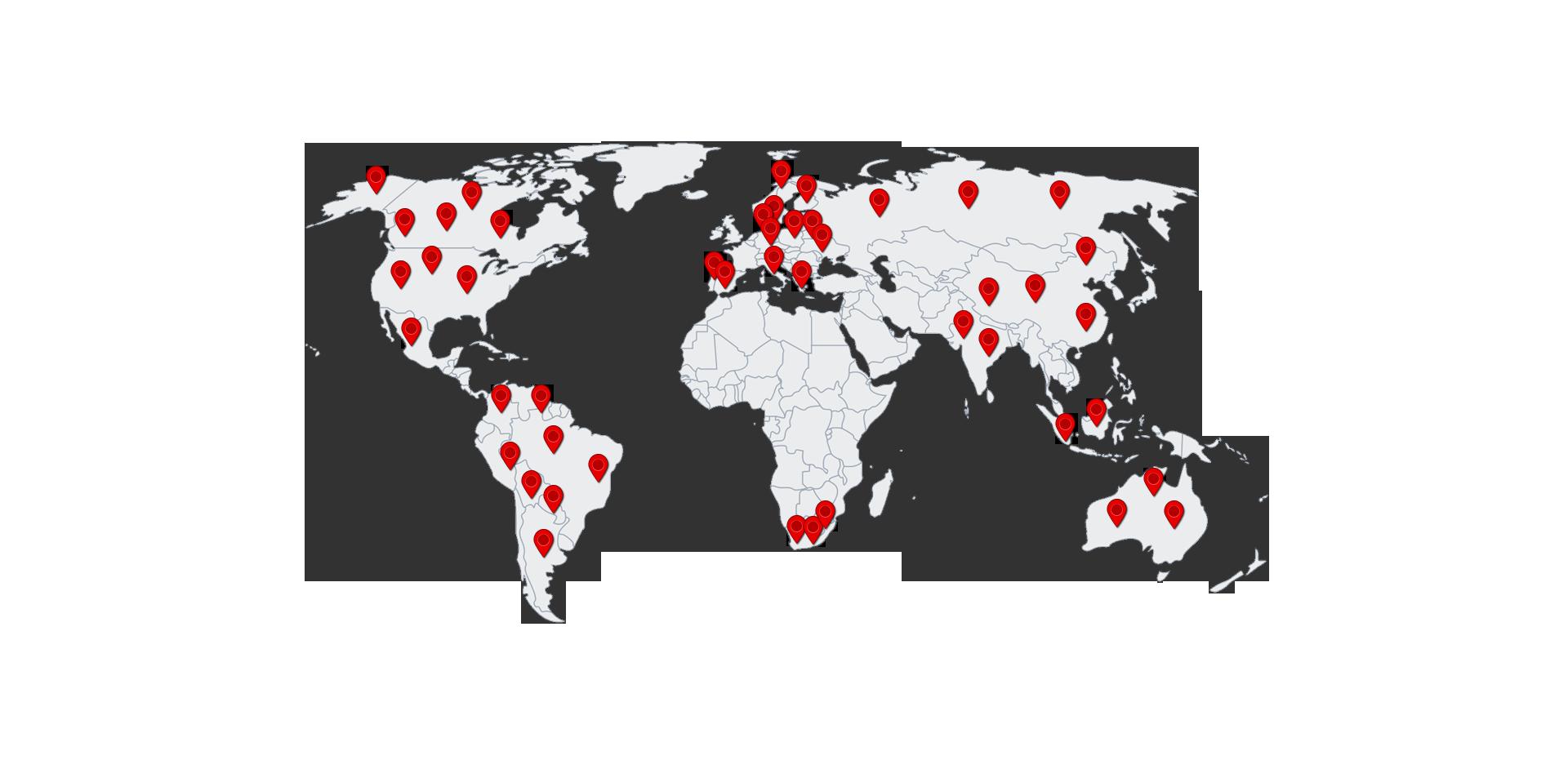 Jarparon projektit maailmalla